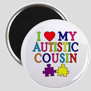 I Love My Autistic Cousin Magnet