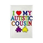 I Love My Autistic Cousin Rectangle Magnet (100 pa