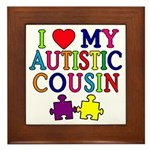 I Love My Autistic Cousin Framed Tile