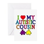 I Love My Autistic Cousin Greeting Cards (Pk of 10
