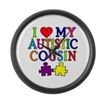 I Love My Autistic Cousin Large Wall Clock