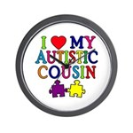I Love My Autistic Cousin Wall Clock