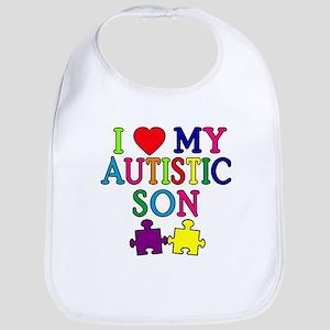 I Love My Autistic Son Tshirts Bib