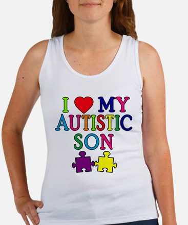 I Love My Autistic Son Tshirts Women's Tank Top