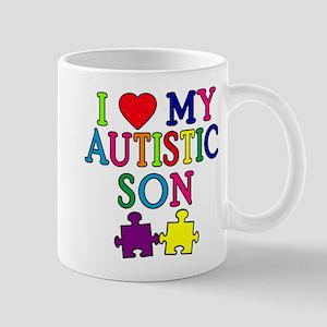 I Love My Autistic Son Tshirts Mug