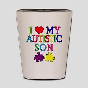 I Love My Autistic Son Tshirts Shot Glass
