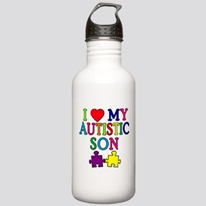 I Love My Autistic Son Tshirts Stainless Water Bot