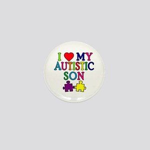 I Love My Autistic Son Tshirts Mini Button