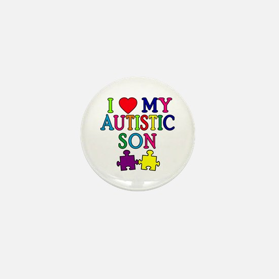 I Love My Autistic Son Tshirts Mini Button