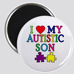 I Love My Autistic Son Tshirts Magnet