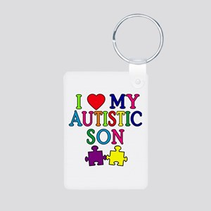 I Love My Autistic Son Tshirts Aluminum Photo Keyc