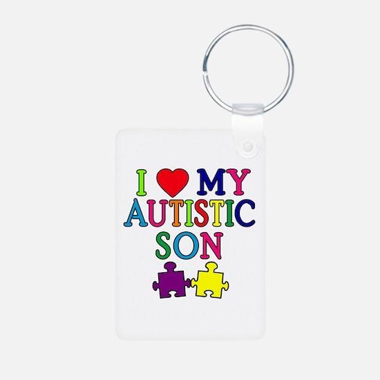 I Love My Autistic Son Tshirts Keychains