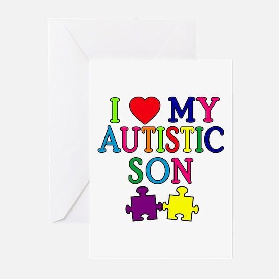 I Love My Autistic Son Tshirts Greeting Cards (Pk