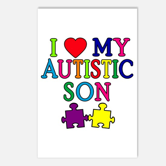 I Love My Autistic Son Tshirts Postcards (Package