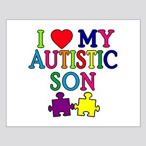 I Love My Autistic Son Tshirts Small Poster