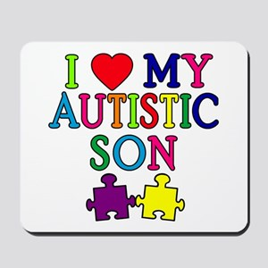 I Love My Autistic Son Tshirts Mousepad