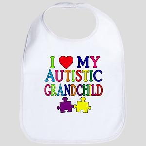 I Love My Autistic Grandchild Tshirts Bib