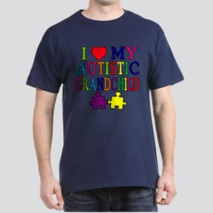 I Love My Autistic Grandchild Tshirts Dark T-Shirt