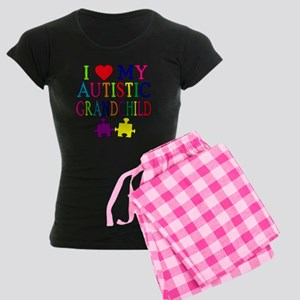 I Love My Autistic Grandchild Tshirts Women's Dark