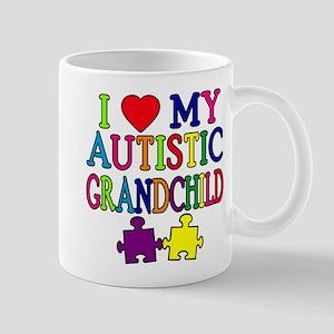 I Love My Autistic Grandchild Tshirts Mug