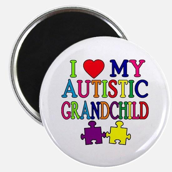 I Love My Autistic Grandchild Tshirts Magnet