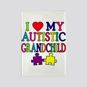 I Love My Autistic Grandchild Tshirts Rectangle Ma