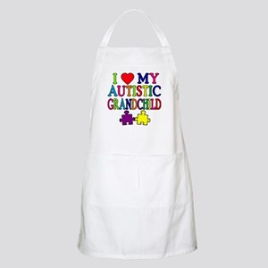 I Love My Autistic Grandchild Tshirts Apron