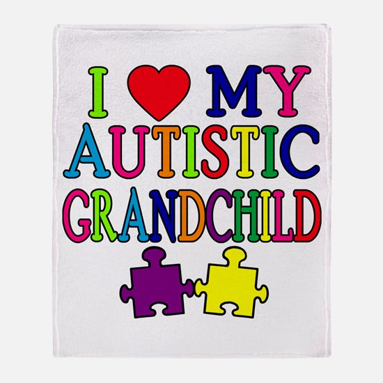 I Love My Autistic Grandchild Tshirts Stadium Bla