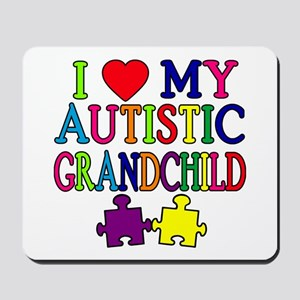 I Love My Autistic Grandchild Tshirts Mousepad