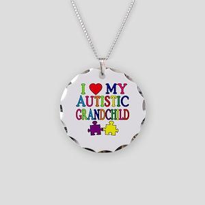 I Love My Autistic Grandchild Tshirts Necklace Cir