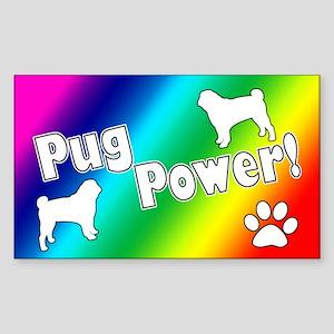 Pug Power Sticker