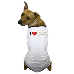 I Heart Bone 1 Dog T-Shirt