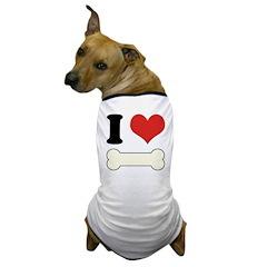 I Heart Bone 2 Dog T-Shirt