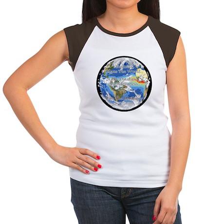 """I Run The Database"" Women's Cap Sleeve T-Shirt"
