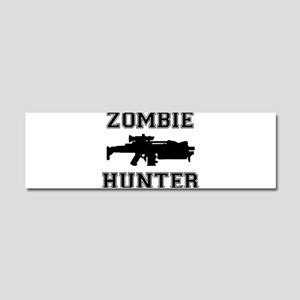 Zombie Hunter Car Magnet 10 x 3