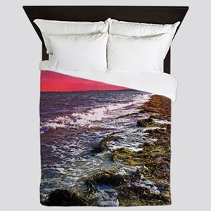 Sunset on Falmouth South Beac Queen Duvet
