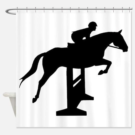 Hunter Jumper Over Fences Shower Curtain