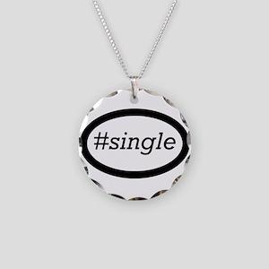 #single Necklace Circle Charm