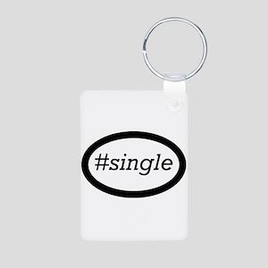 #single Aluminum Photo Keychain