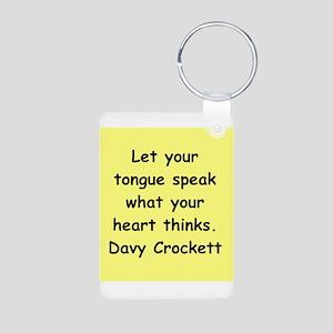 Davy Crockett Aluminum Photo Keychain