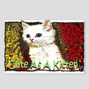 cute as a kitten Postcards (Package of 8)