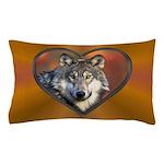 Wolf Heart Pillow Case