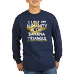 Long Sleeve Dark T-Shirt feat. Banana Triangle