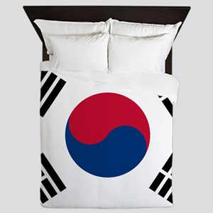 Korean Flag Queen Duvet
