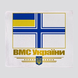 """Ukraine Naval Ensign"" Throw Blanket"