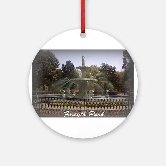Forsyth Park Fountain Ornament (Round)
