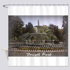 Forsyth Park Fountain Shower Curtain
