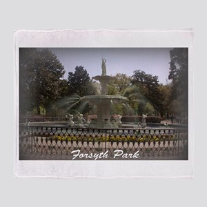 Forsyth Park Fountain Throw Blanket