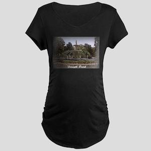 Forsyth Park Fountain Maternity Dark T-Shirt