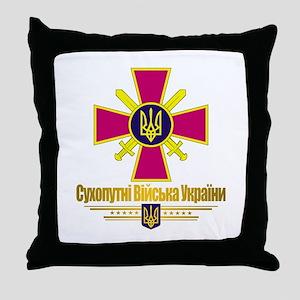 """Ukrainian Ground Forces"" Throw Pillow"